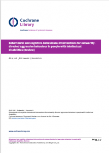 Front Cover ehavioural and cognitive-behavioural interventions for outwardlydirected aggressive behaviour in people with intellectual disabilities (Review)