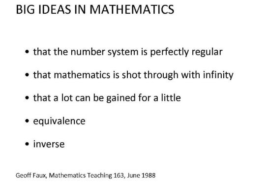 big ideas in mathematics slide